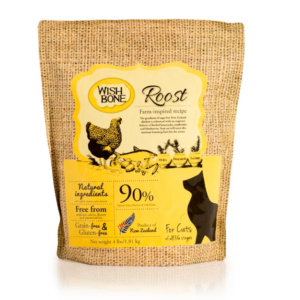 Wishbone Roost cage free chicken cat kibble