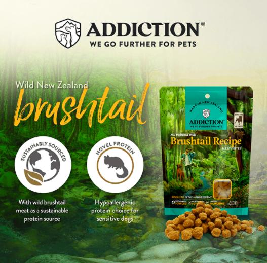 Addiction Meaty Bites dog treats Brushtail
